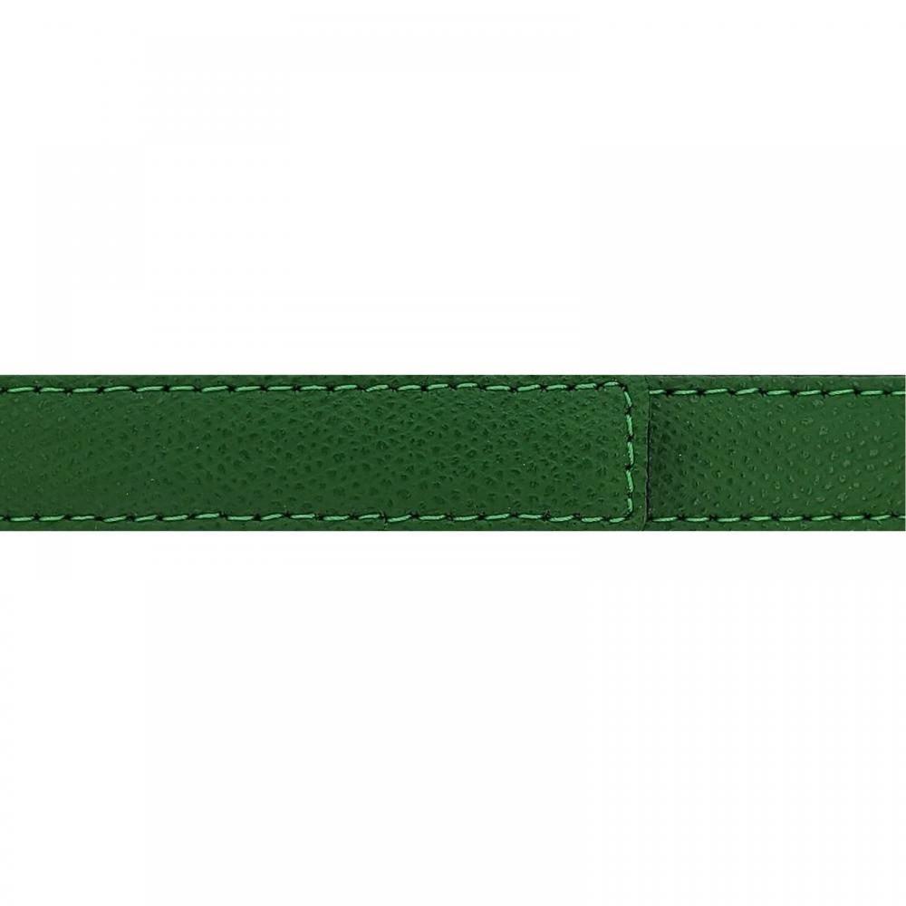 Cuir 20 mm grainé vert