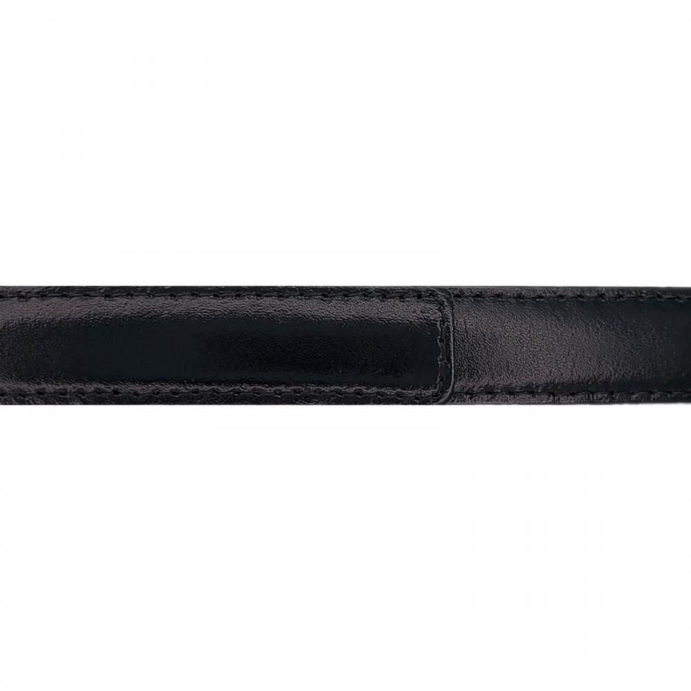 Cuir 20 mm lisse noir