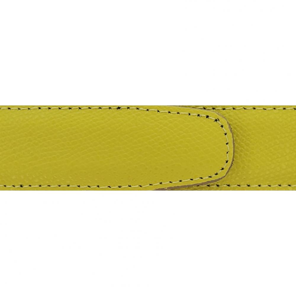 Cuir 30 mm grainé jaune citron