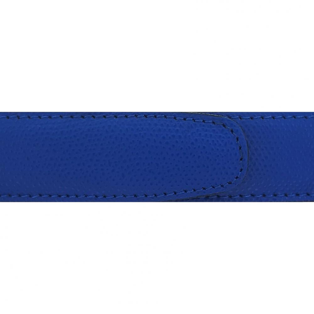 Cuir 30 mm grainé bleu roi
