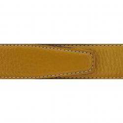 Cuir 30 mm souple jaune moutarde