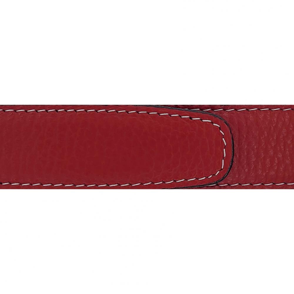 Cuir 30 mm souple rouge