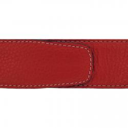 Cuir 40 mm souple rouge