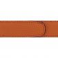 Ceinture cuir grainé orange 30 mm - Roma or