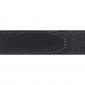 Ceinture cuir souple noir 30 mm - Roma argent