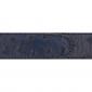 Ceinture cuir façon autruche bleu marine 30 mm - Roma or