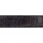 Ceinture cuir façon croco marron 30 mm - Porto-fino mate