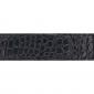 Ceinture cuir façon croco noir 30 mm - Côme or