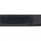 Ceinture cuir façon lézard noir 30 mm - Roma or