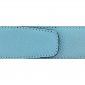 Ceinture cuir grainé bleu ciel 40 mm - Porto-fino mate