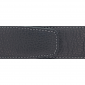 Ceinture cuir souple noir 40 mm - Milano argent