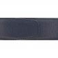 Ceinture cuir grainé bleu marine 40 mm - Porto-fino argent