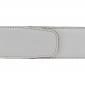 Ceinture cuir souple blanc 40 mm - Roma or