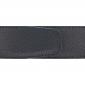 Ceinture cuir grainé noir 40 mm - Roma argent