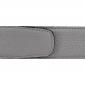 Ceinture cuir souple gris 40 mm - Milano or