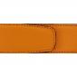 Ceinture cuir grainé orange 40 mm - Milano mate