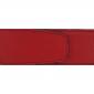Ceinture cuir grainé rouge 40 mm - Milano or