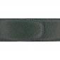 Ceinture cuir grainé vert foncé 40 mm - Roma argent