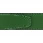 Ceinture cuir grainé vert 40 mm - Milano argent