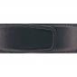 Ceinture cuir lisse noir 40 mm - Porto-fino mate