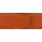 Ceinture cuir souple orange 40 mm - Milano mate