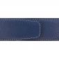 Ceinture cuir souple bleu marine 40 mm - Milano or