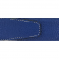 Ceinture cuir souple bleu roi 40 mm - Milano argent