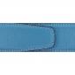 Ceinture cuir souple bleu ciel 40 mm - Porto-fino or