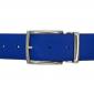 Ceinture cuir grainé bleu roi 40 mm - Milano argent