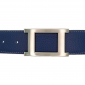 Ceinture cuir souple bleu marine 40 mm - Porto-fino mate