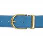 Ceinture cuir souple bleu ciel 40 mm - Roma or
