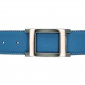 Ceinture cuir souple bleu ciel 40 mm - Porto-fino argent