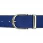 Ceinture cuir souple bleu roi 40 mm - Roma argent