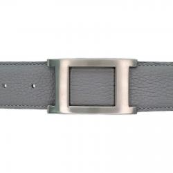 Ceinture cuir souple gris 40 mm - Porto-fino mate