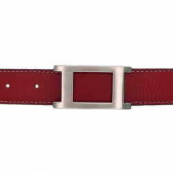 Ceinture cuir souple rouge 30 mm - Porto-fino mate